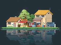Pixel town