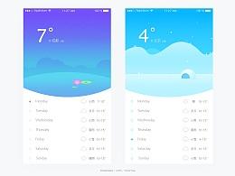 UI100day 天气APP界面  设计练习