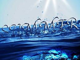 站酷英文字体设计春夏秋冬四季效果字体设计/植物墙、水中字、水果平面、雪盖字