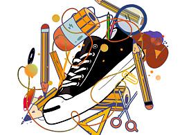 一组ipad练习,画球鞋