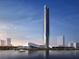 海景建筑塔楼设计表现