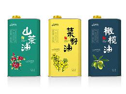 崇明岛系列油包装设计