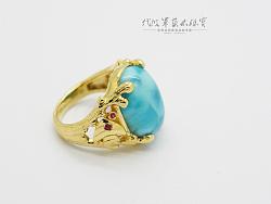 代波军艺术珠宝定制-海纹石戒指设计—海洋之心