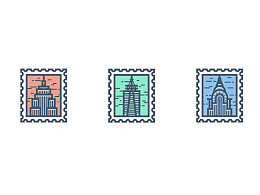 AI绘制邮票