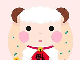 little lamb 小绵羊绘画