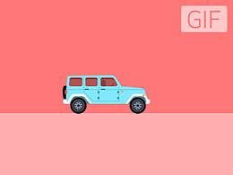 Jeep-动画 附AE源文件