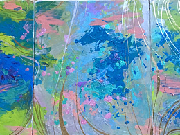 线条和光感 『美错·流云』 光感丙烯浮光涟漪 涂鸦