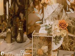 【Light  Luxury】金色橘色系婚禮蛋糕
