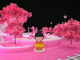 樱花节美陈