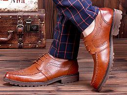 男士皮鞋详情页