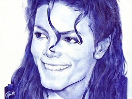 <Micheal Joseph Jackson>BALL POINT PENS DRAWING