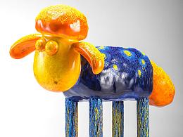 2015小羊肖恩艺术羊雕塑跨界设计