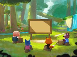 森林教室图片