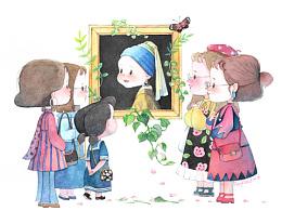 女孩儿们小系列(水彩含过程)