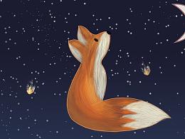 小狐狸插画
