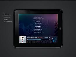 ipad 音乐界面UI设计