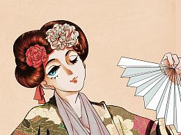 和服少女-日式赛璐璐风格练习