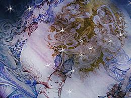 月中天——卢波手绘大幅插画嫦娥