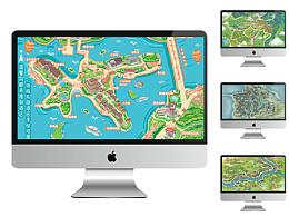 景区小程序手绘地图大合集智慧旅游设计定制