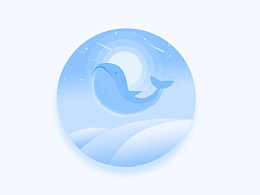 鲸鱼微光插画