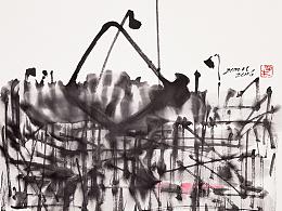 子木水墨作品《境像系列》