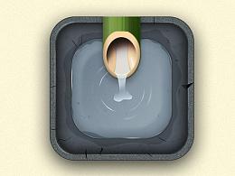 UI写实图标:青竹引山泉