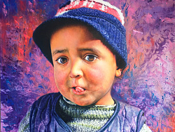 油画作品-Tajik男孩系列
