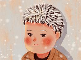 """""""冰花男孩""""插画"""
