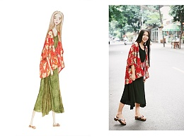 每日一图 插画012—《花与绿》