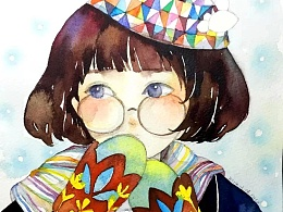 水彩创作-女孩系列