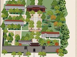 嘉兴子城遗址景区公园.手绘地图定制h5小程序制作设计