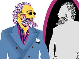 图说时尚  GQ合作第三、四期插画