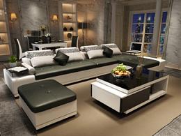 家具3D效果图-沙发、茶几、电视柜、餐桌、餐椅
