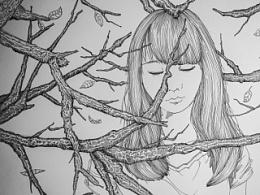 绘画创作 | 就是带刺的世界把你包围 我也会找到你