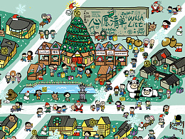 成都太古里圣诞地图H5