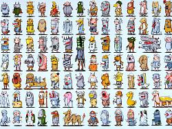 【异兽圈】300个卡通小人