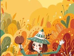 儿童插画 图书封面