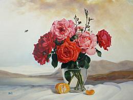 油画--花