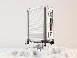 [三维合成]首席官旅行箱高炮广告设计