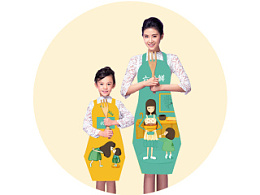 给自己和宝宝设计的亲子围裙