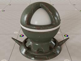 刷漆金属 | 混合材质练习 | CGI