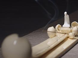 【吾心道场】 吾心禅境系列之莲心  线香插 陶瓷艺术香道空间摆件