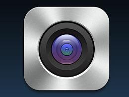 拟物化图标光盘质感效果相机
