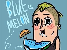 蓝西瓜  薄荷味