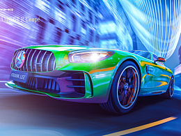 CGI - Under the neon - Mecedez Benz AMG GT R