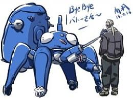 最近的涂鸦,攻壳机动队的塔奇克马们~tachikoma塔驹