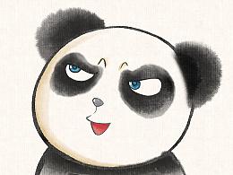 熊猫表情包水墨版~