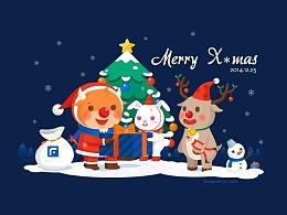 圣诞节—富途公司贺卡设计