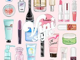 化妆品插画小集合