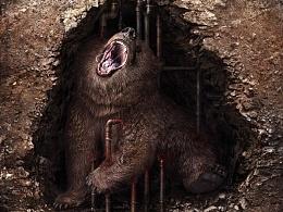 Tasty□CG团队商业广告作品《Petroleum Hurts》系列作品2--bear